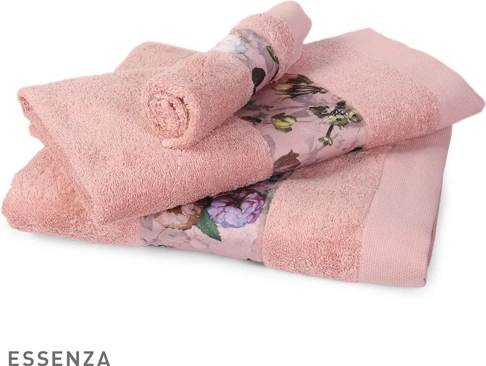 Uterák Essenza Home Fleur ružový ruzova