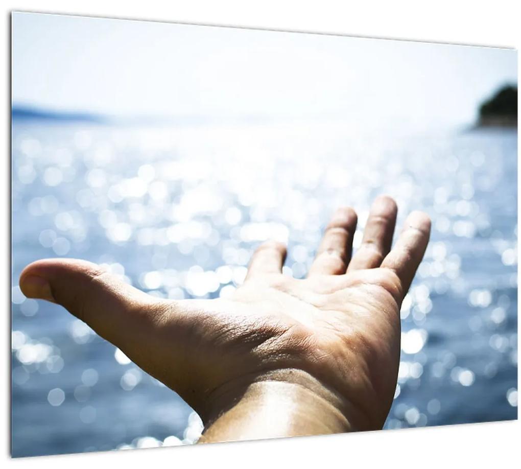 Obraz otvorenej dlane (70x50 cm), 40 ďalších rozmerov