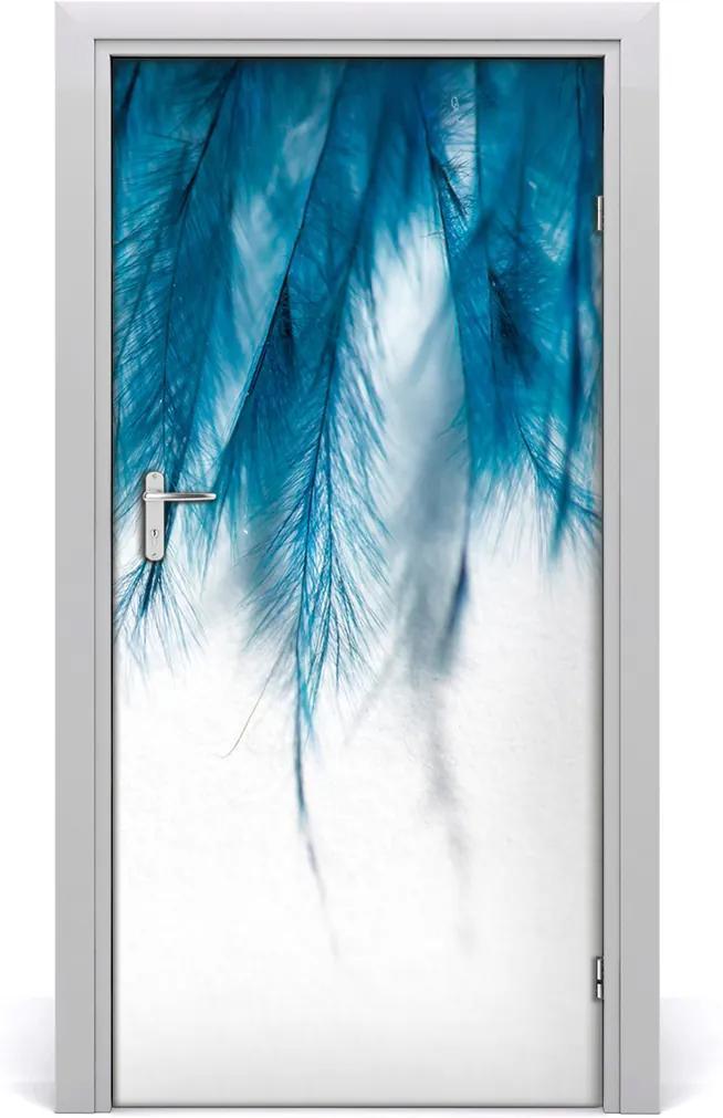Fototapeta na dveře Modrá pera