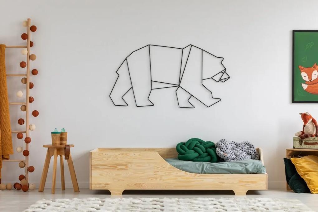 MAXMAX Detská posteľ z masívu BOX model 4 - 120x60 cm 120x60 pre dievča pre chlapca pre všetkých NIE