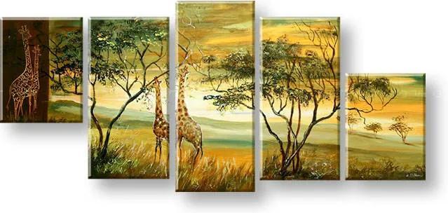 Maľovaný obraz na stenu AFRIKA FB247E5