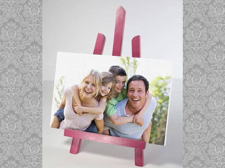Obraz z fotografie na stojane / Ružový
