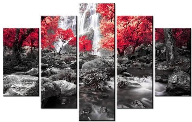 Tlačený obraz Tajomný vodopád 100x63cm 2485A_5D