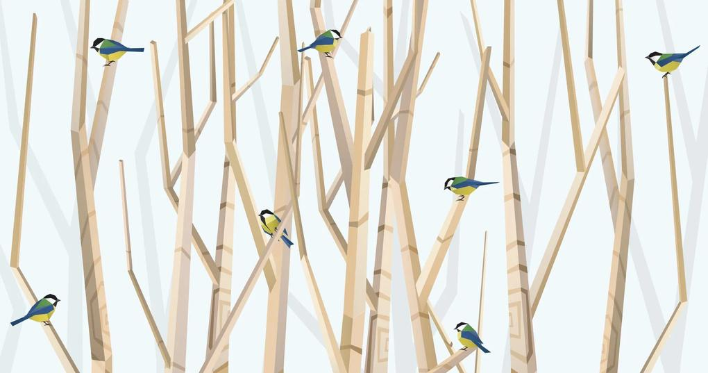 BIG FOREST AND TITMICE – VERTICAL FORMAT – 100 x 50
