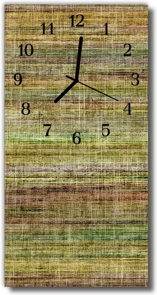 Skleněné hodiny vertikální Barevné plátno