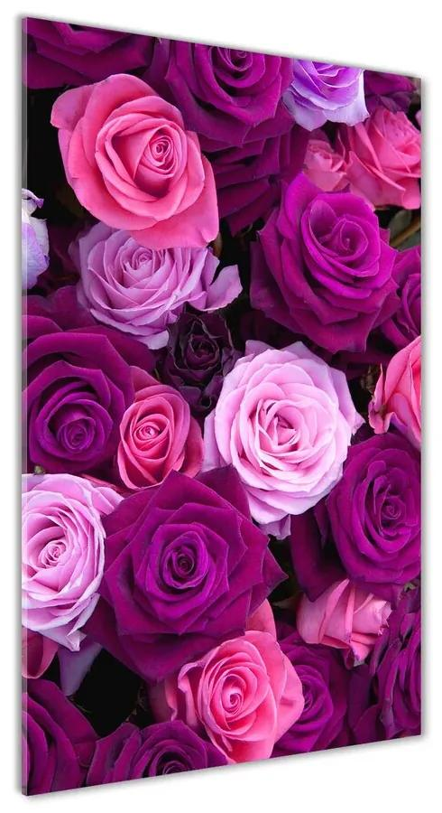 Moderný akrylový fotoobraz Ružové ruže pl-oa-70x140-f-119226087