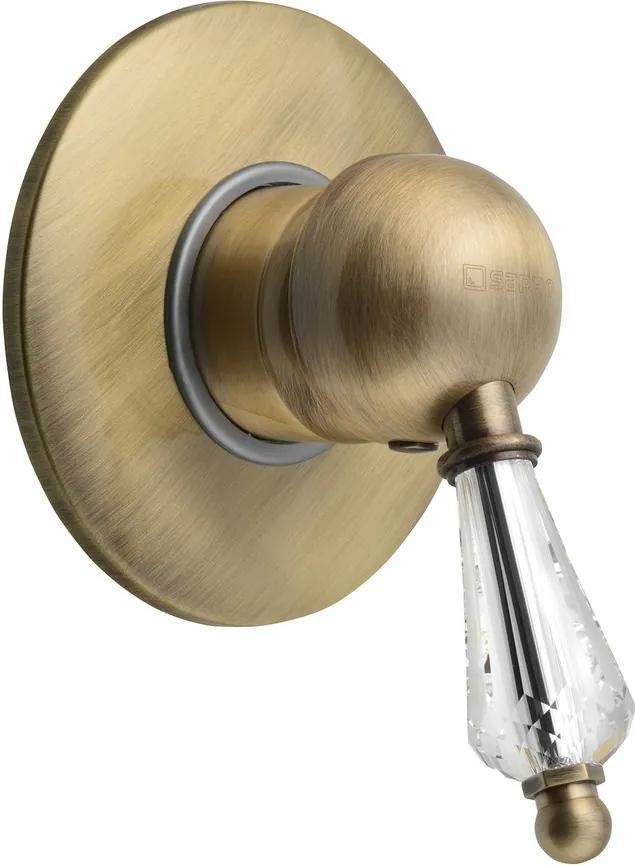 Kirké Crystal KI41KB podomietková sprchová batéria, 1 výstup, krištáľová páčka, bronz