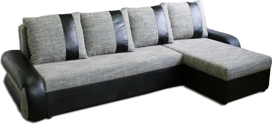 Rozkladacia rohová sedačka TIKO 2, sivý berlin