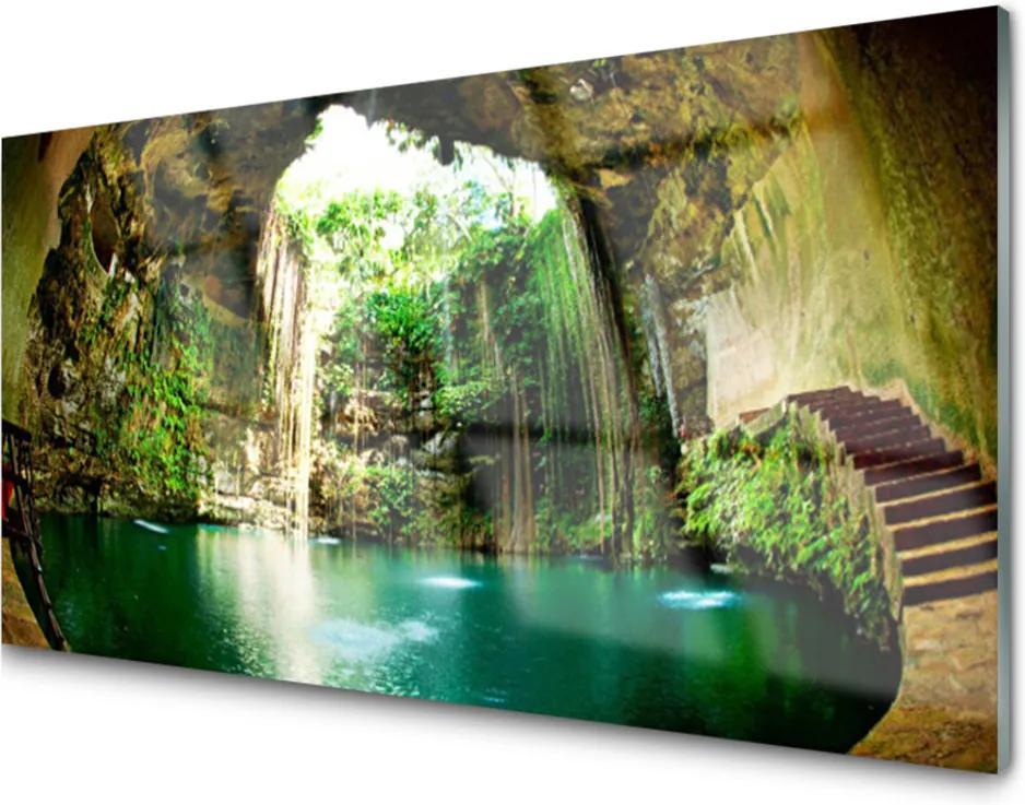 Obraz na akrylátovom skle vodopád Príroda