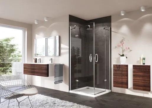 Sprchové dvere Huppe Strike jednokrídlové 100 cm, sklo číre, chróm profil, ľavé 430303.092.322