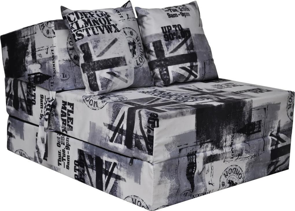 MAXMAX Rozkladacie molitanové kreslo (matrac) - Veľká Británia