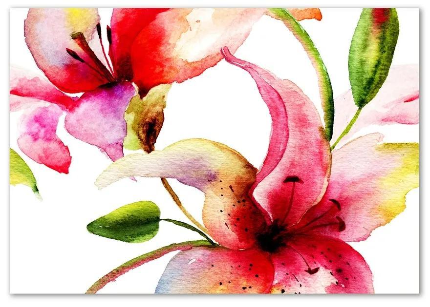 Foto obraz sklo tvrdené Ľalie pl-osh-100x70-f-68744371