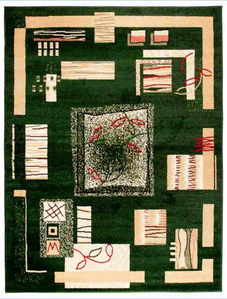 Kusový koberec PP Forme zelený, Velikosti 70x130cm