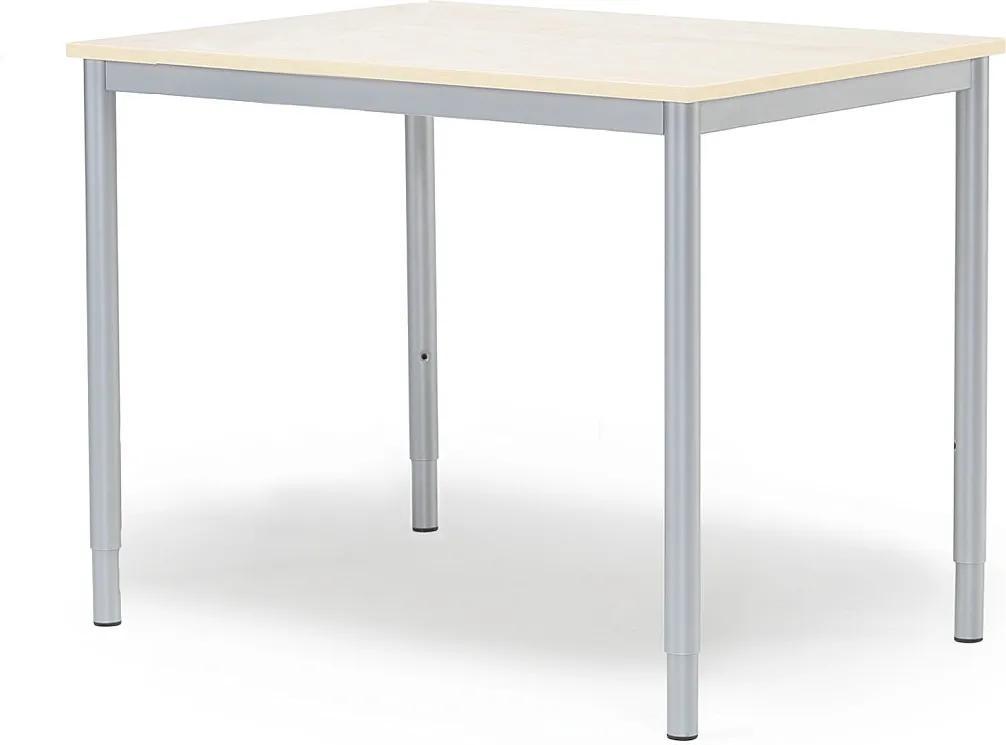Prídavný kancelársky pracovný stôl Adeptus 800x600 mm, breza/šedá