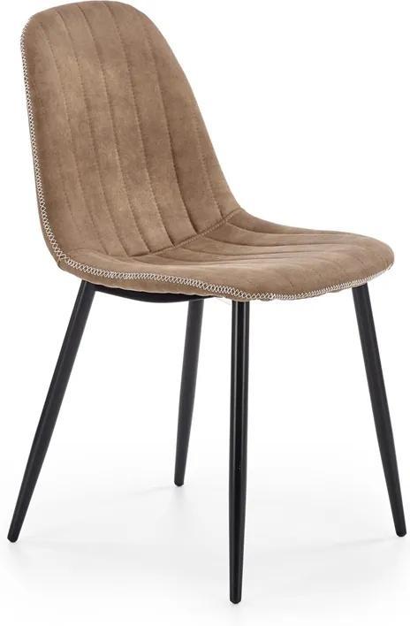 HALMAR K328 jedálenská stolička tmavobéžová / čierna