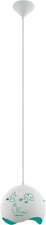 Eglo 97393 LAURINA Detské závesné svietidlo E27 1X60W