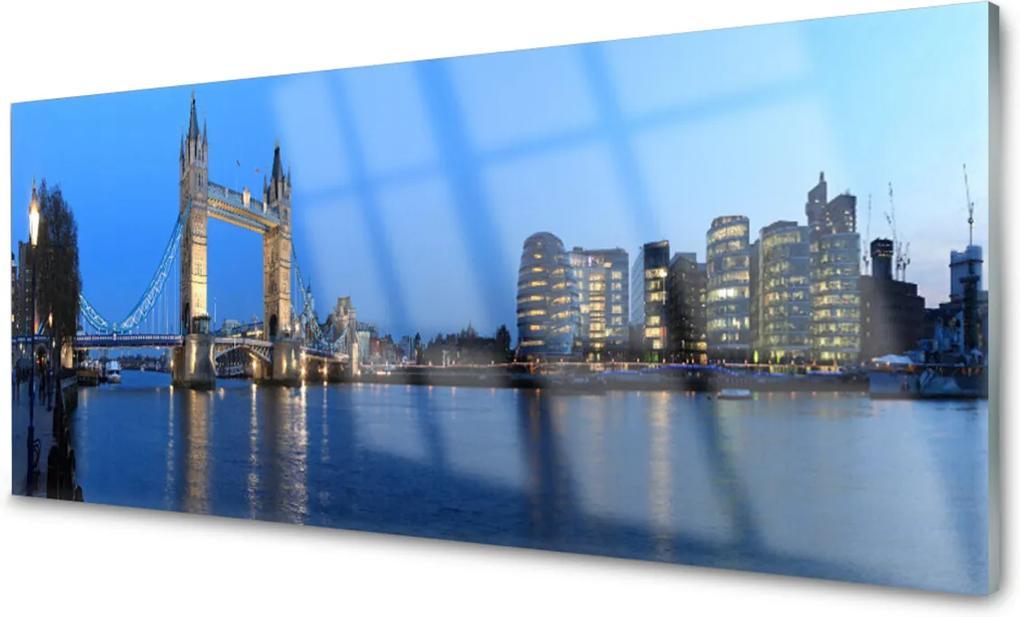 Obraz na akrylátovom skle Most Mesto Architektúra