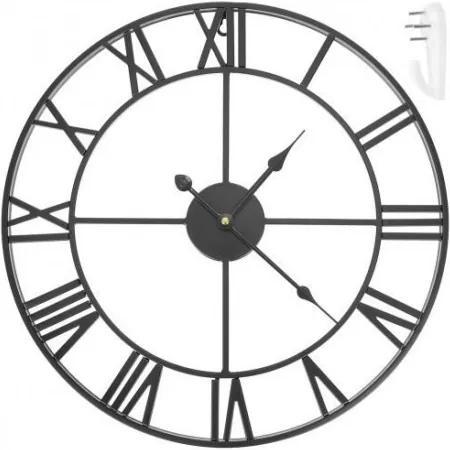 11434 Retro hodiny 47,5cm - čierne