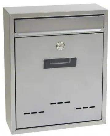 Poštová schránka RICHTER BK 20 D (STRIEBORNÁ, HNEDÁ) - Oceľ hnedá