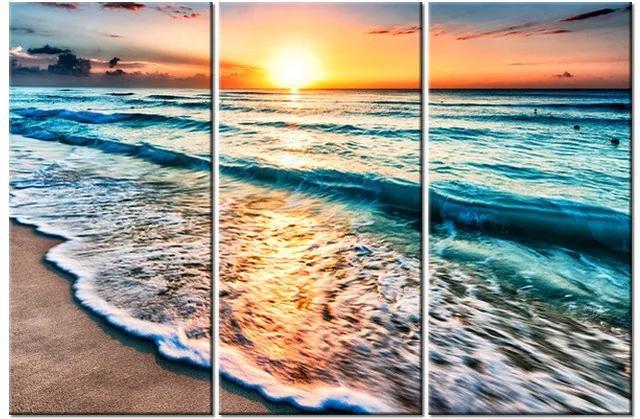 Tlačený obraz Západ slnka v Cancúne Mexiko 90x60cm 3520A_3J