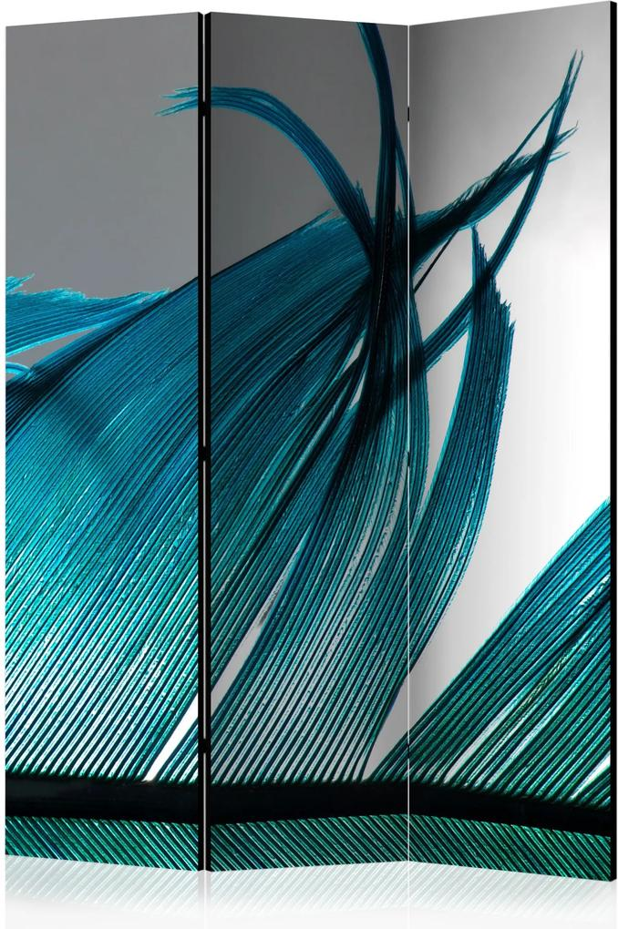 Paraván - Turquoise Feather [Room Dividers] 135x172