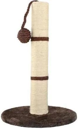 ISO Mačacie škrabadlo stĺpik s hračkou 45cm, hnedá, 7931