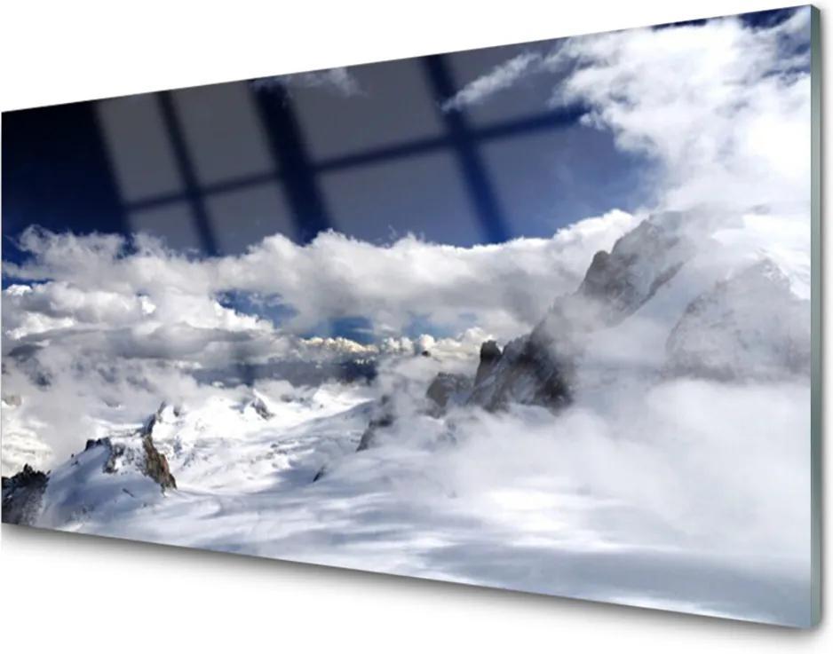 Obraz na skle Hora Mraky Príroda