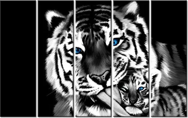 Tlačený obraz Tigre ako maľované 100x63cm 2573A_5E