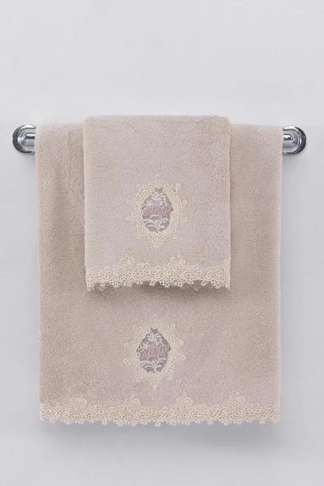 Soft Cotton Darčekové balenie uterákov a osušiek DESTAN Púdrová
