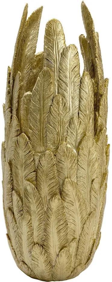 Váza v zlatej farbe Kare Design, výška 80 cm