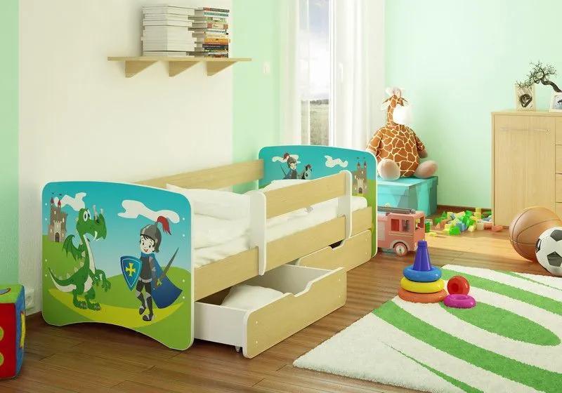 MAXMAX Detská posteľ RYTÍŘ funny 160x70cm - bez šuplíku 160x70 pre chlapca NIE