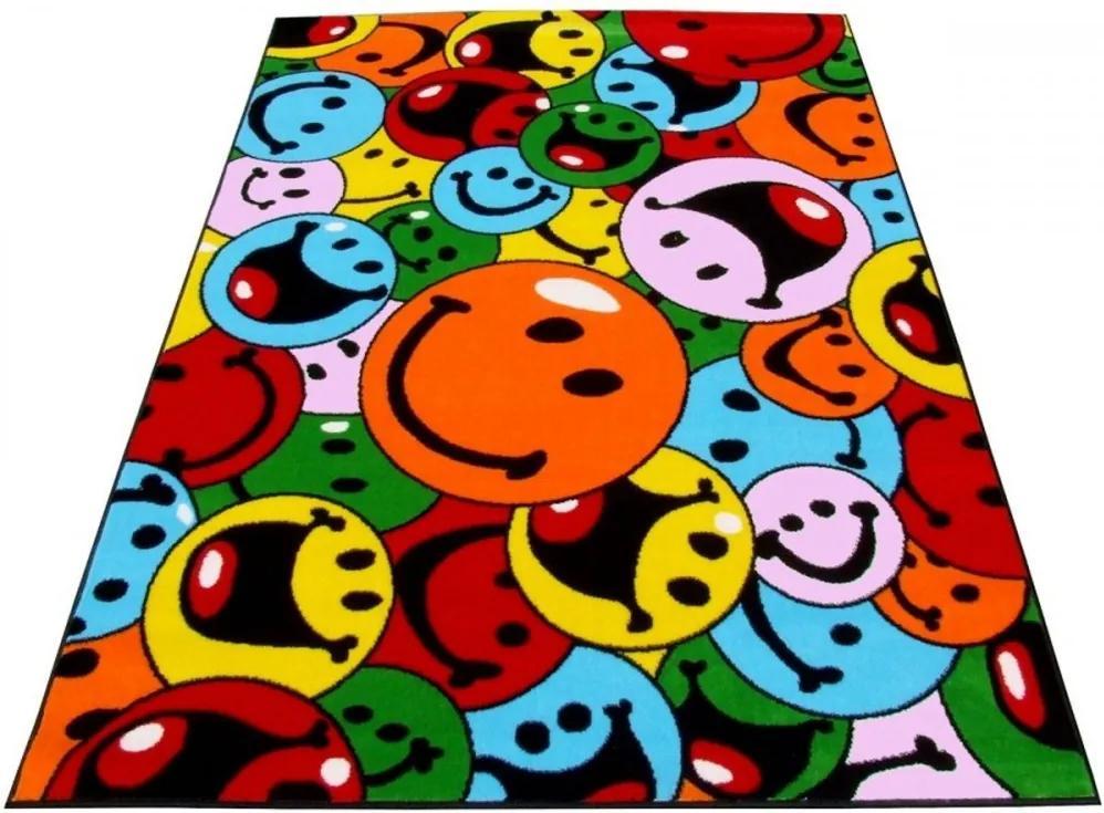 Detský kusový koberec Smajlík viacfarebný, Velikosti 240x330cm