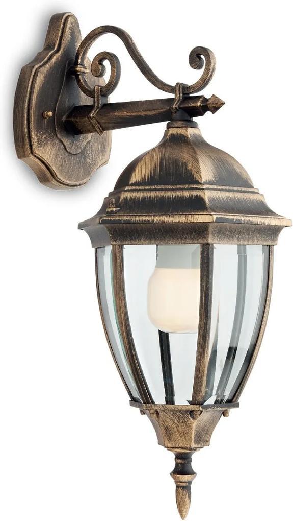 Vonkajšie retro a vintage svietidlo REDO SEVILLA bronzová 9605