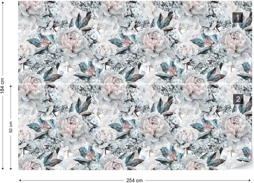 Fototapeta GLIX - Vintage Floral Pattern 6 + lepidlo ZADARMO Vliesová tapeta  - 254x184 cm