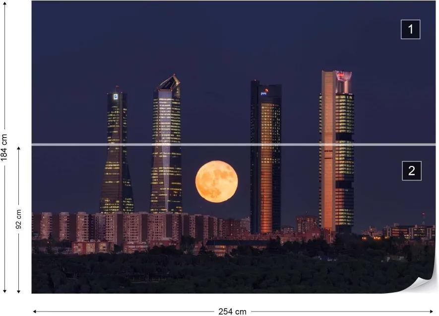 Fototapeta GLIX - Supermoon + lepidlo ZADARMO Vliesová tapeta  - 254x184 cm