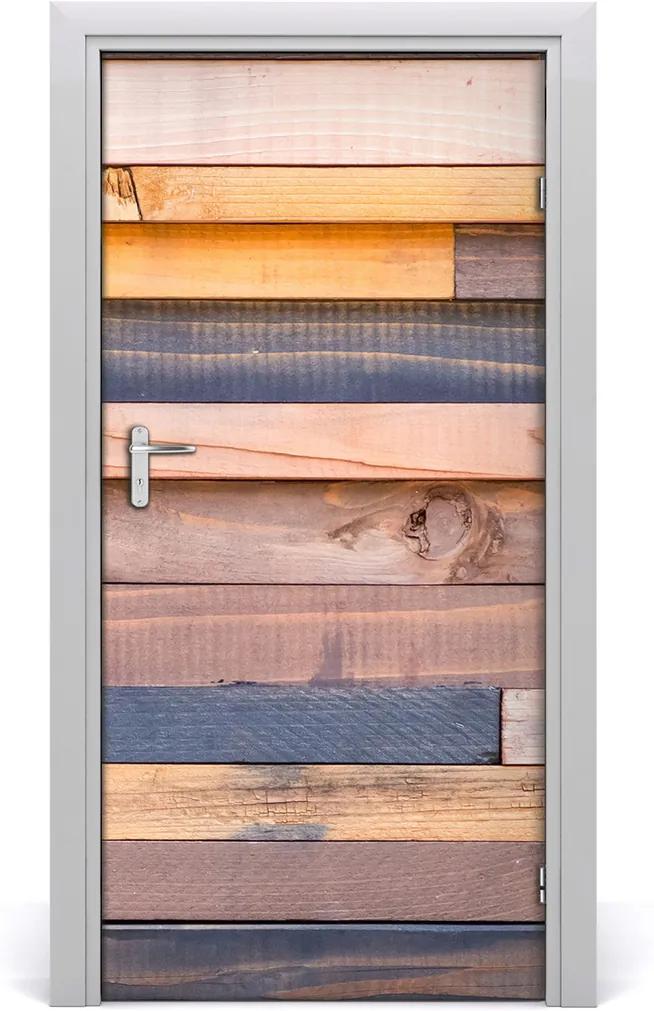 Fototapeta na dveře Dřevěná stěna