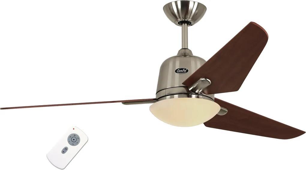 Stropný ventilátor CasaFan ECO AVIATOS 132 brúsený chróm - čerešňa