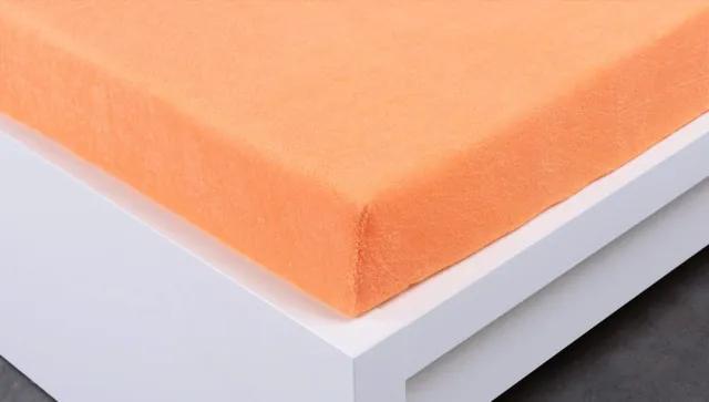 XPOSE ® Dětské prostěradlo froté - meruňková 60x120 cm