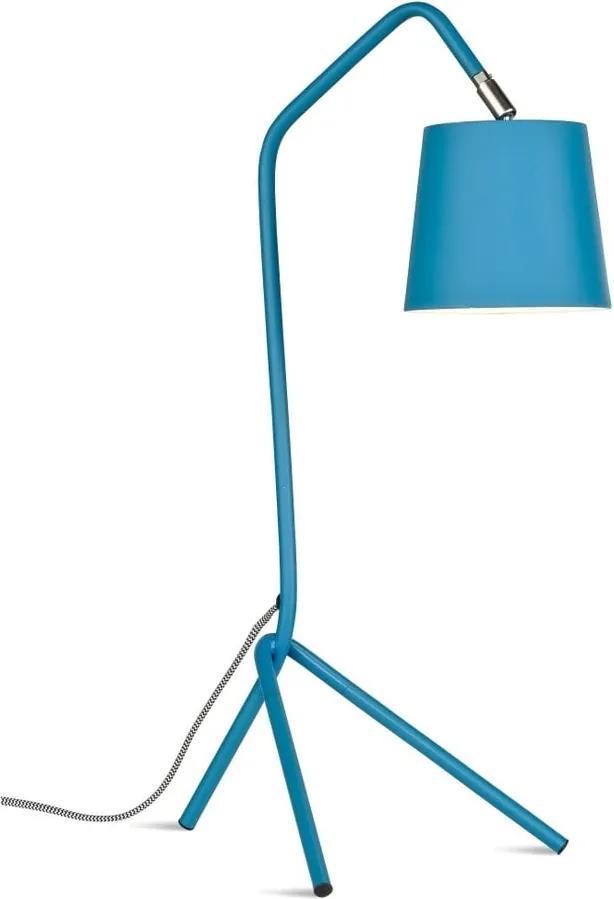 Modrá stolová lampa Citylights Barcelona