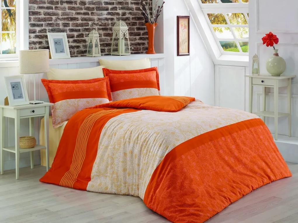 Brotex Obliečky Satén Exclusive Donato oranžová 200x220/2x70x90 cm