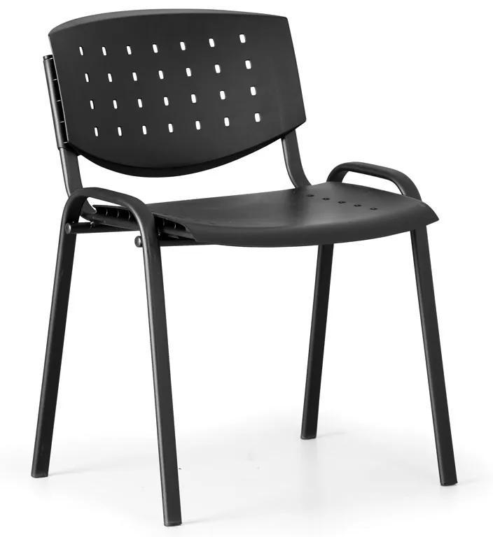 Rokovacia stolička Tony, čierna - konštrukcia čierna