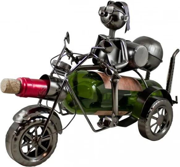 Kovový stojan na víno Motorkár W129