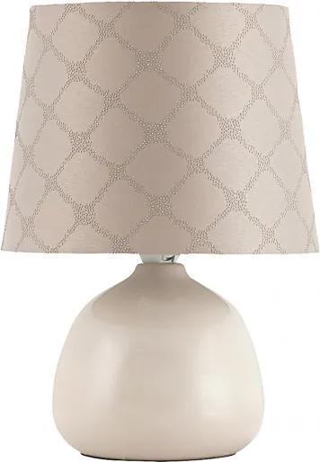 Rábalux 4380 Nočná stolová lampa béžový béžový E14 1X MAX 40W 26 x 18 x 18 cm
