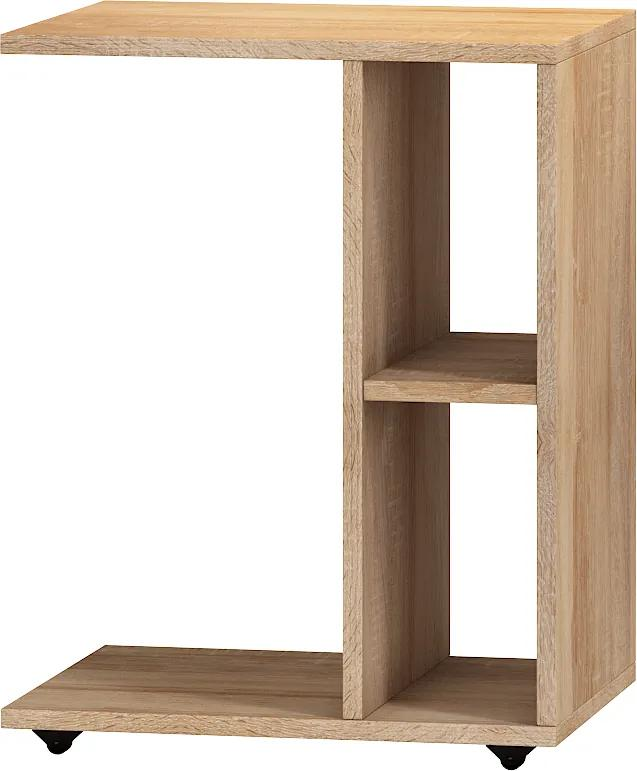 MEBLOCROSS Atos príručný stolík na kolieskach sonoma svetlá