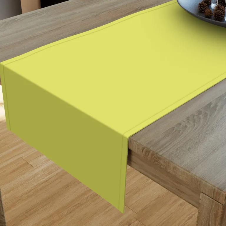 Goldea bavlnený behúň na stôl - pistáciovo zelený 20x120 cm