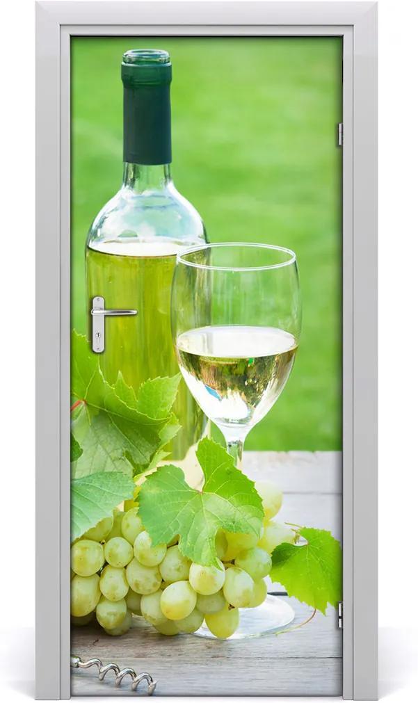 Fototapeta na dvere samolepiace  hrozno a víno