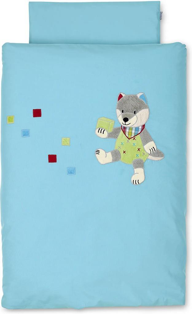 Sterntaler Povlečení do kočárku vlk Wilbur 80x80cm