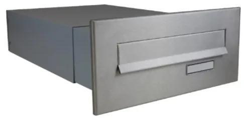 Nerezová poštová schránka DLS-B-042 pre zamurovanie do stĺpika, nastaviteľná hĺbkaschránky