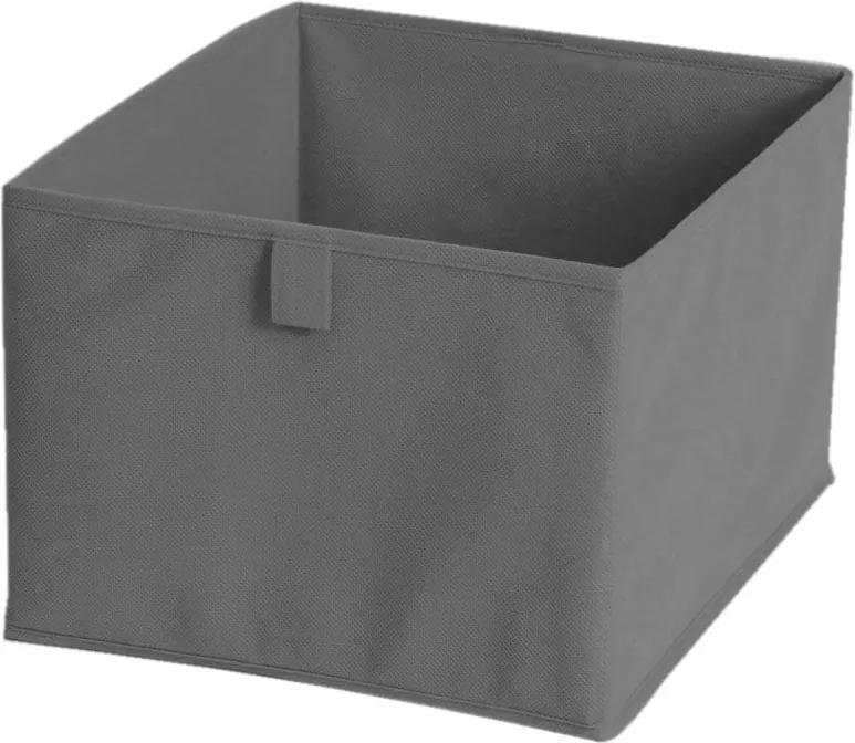 Sivý textilný úložný box JOCCA, 28 x 28 cm