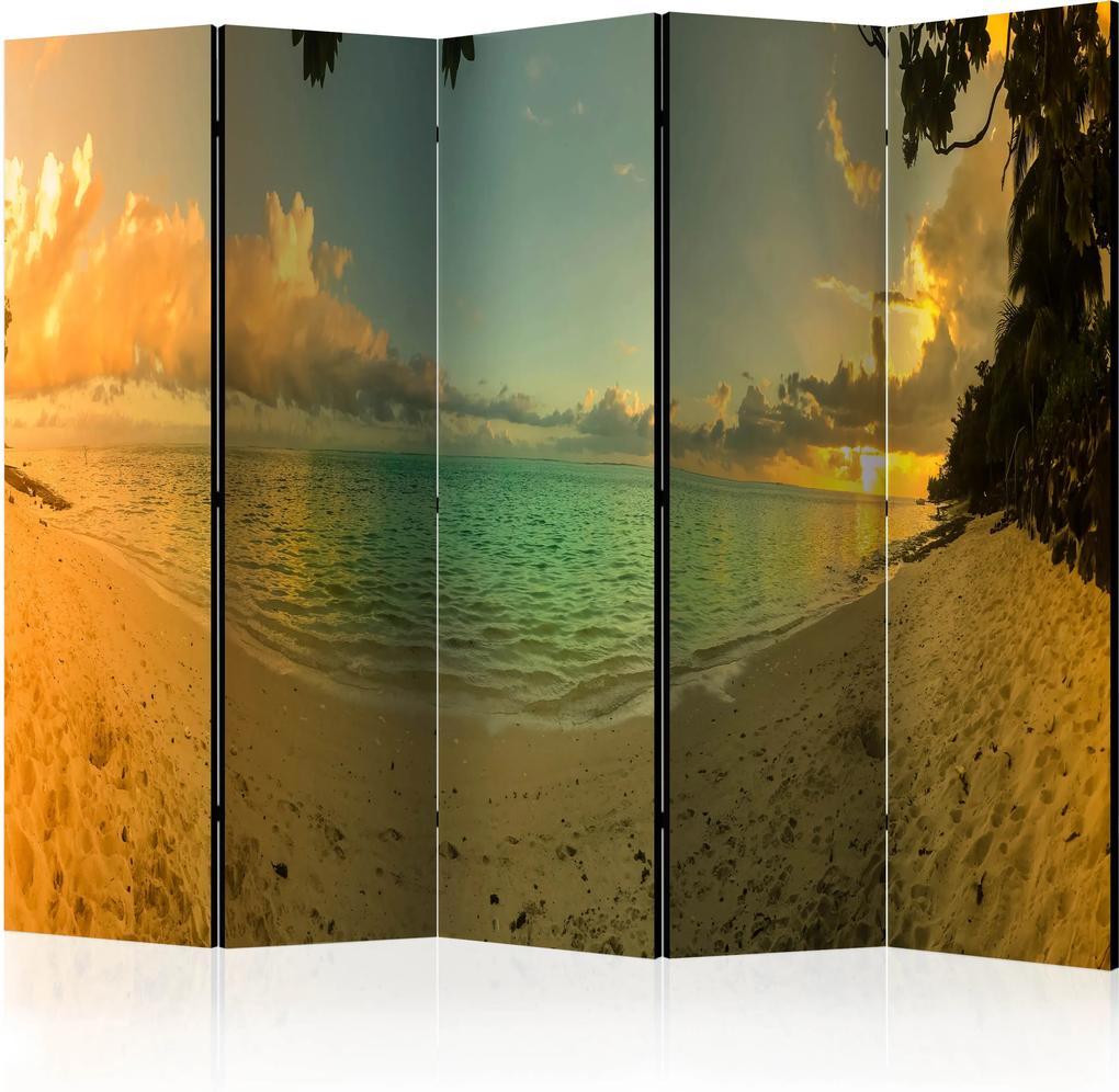 Paraván - Sunset in Tahiti II [Room Dividers] 225x172